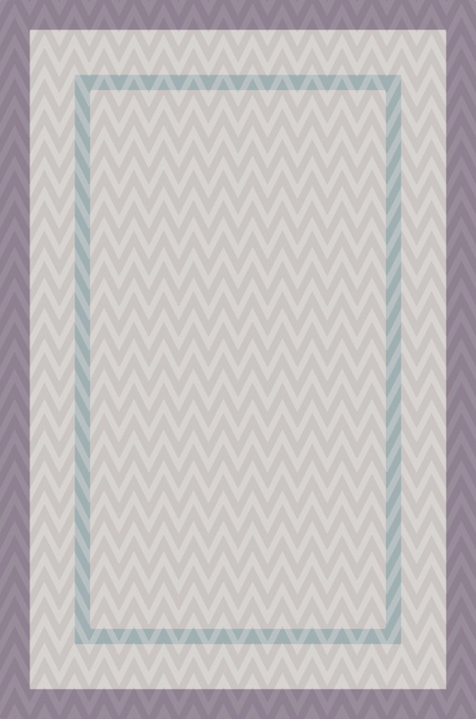 Bordered Herringbone Rug