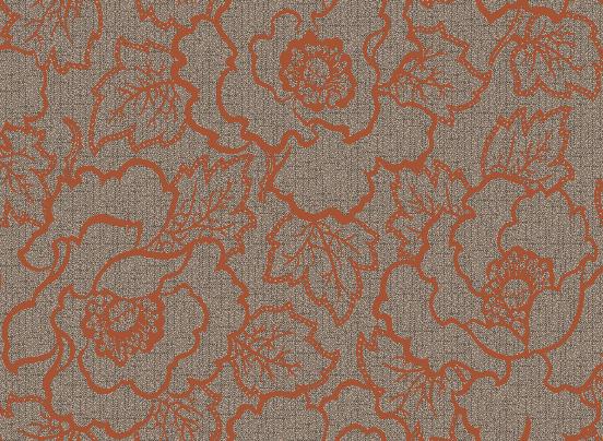 Bespoke carpet, red roses