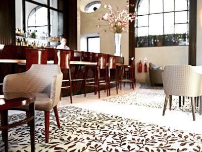 Wool Classics London - Bespoke Rug at bar